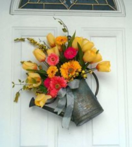 Beautiful decor ideas to hang on your door that aren't wreaths 11