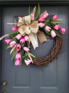 Beautiful decor ideas to hang on your door that aren't wreaths 17
