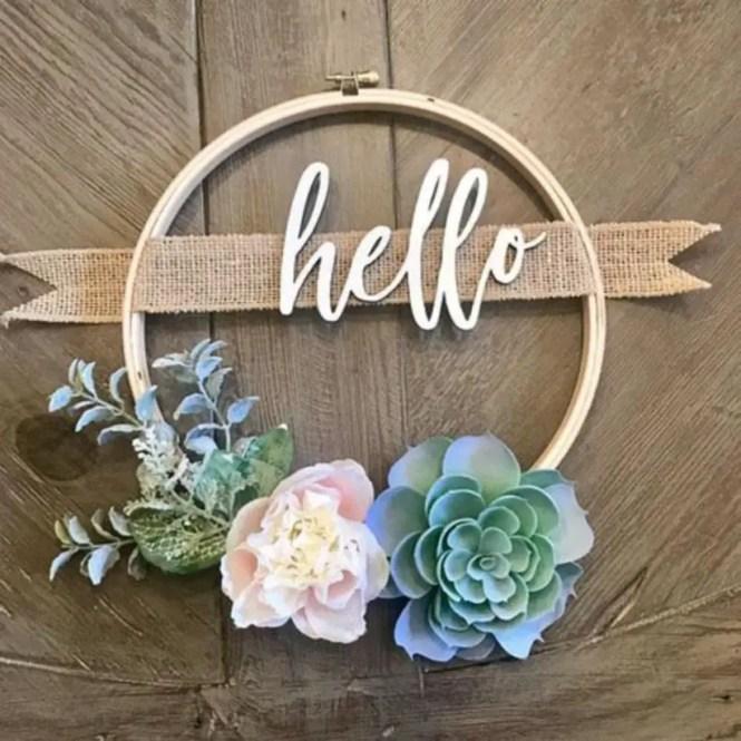 Beautiful decor ideas to hang on your door that aren't wreaths 25