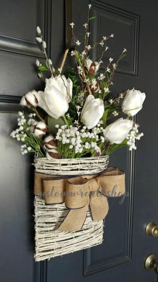 Beautiful decor ideas to hang on your door that aren't wreaths 30