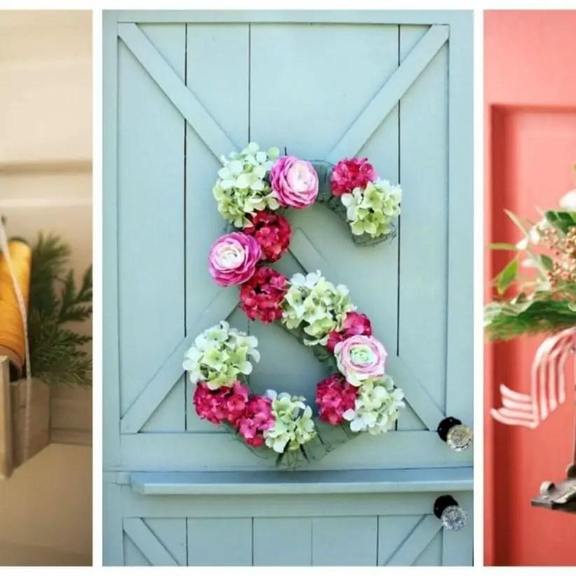 Beautiful decor ideas to hang on your door that aren't wreaths 36