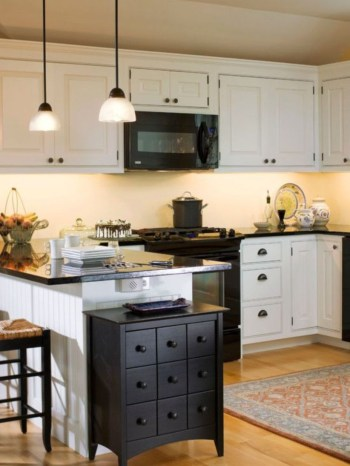 Stylist and elegant black and white kitchen ideas 21