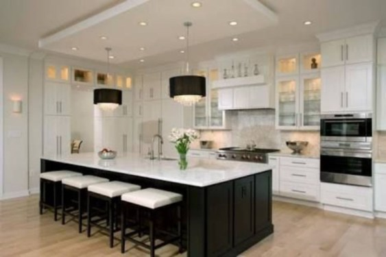 Stylist and elegant black and white kitchen ideas 35
