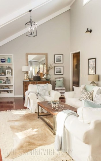 Adorable and cozy neutral living room design ideas 06