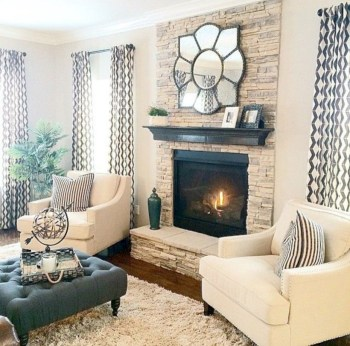 Adorable and cozy neutral living room design ideas 08