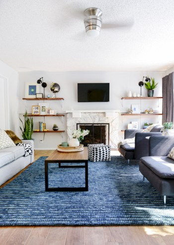 Adorable and cozy neutral living room design ideas 12