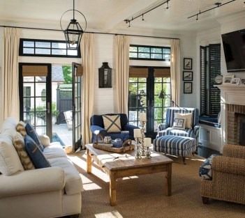 Adorable and cozy neutral living room design ideas 13