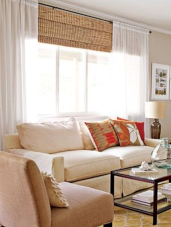Adorable and cozy neutral living room design ideas 26