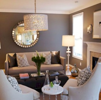 Adorable and cozy neutral living room design ideas 48