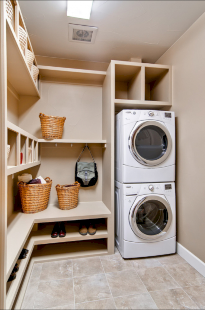 Laundry room storage shelves ideas to consider 01