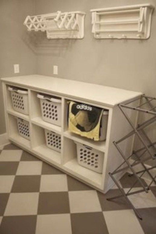 Laundry room storage shelves ideas to consider 08