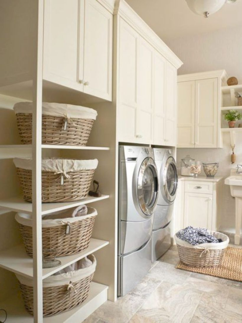 Laundry room storage shelves ideas to consider 12