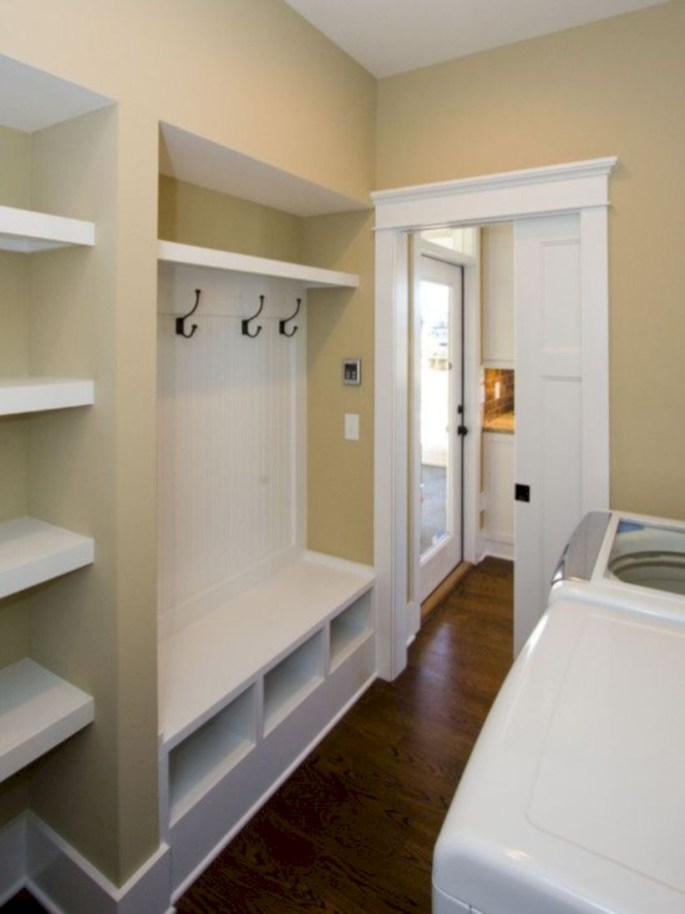 Laundry room storage shelves ideas to consider 18