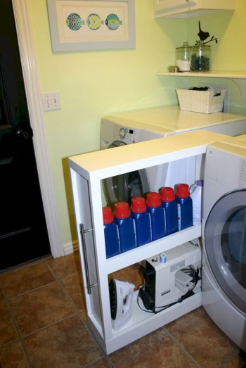 Laundry room storage shelves ideas to consider 19