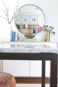 Adorable round mirror designs to brighten up your small space 07