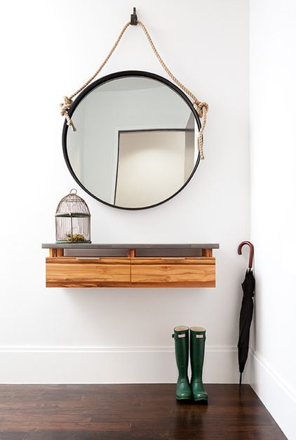 Adorable round mirror designs to brighten up your small space 09