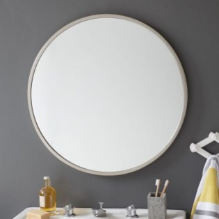 Adorable round mirror designs to brighten up your small space 12