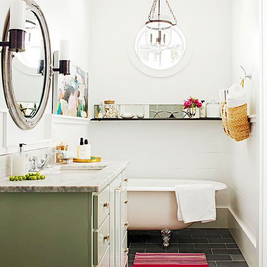 Adorable round mirror designs to brighten up your small space 41