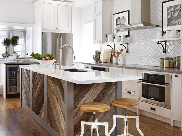 Modern herringbone pattern to give unique elements to your kitchen 06