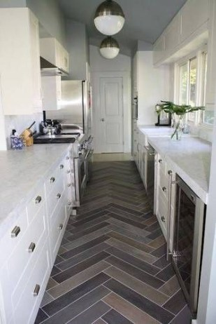 Modern herringbone pattern to give unique elements to your kitchen 14
