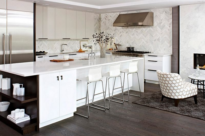 Modern herringbone pattern to give unique elements to your kitchen 18