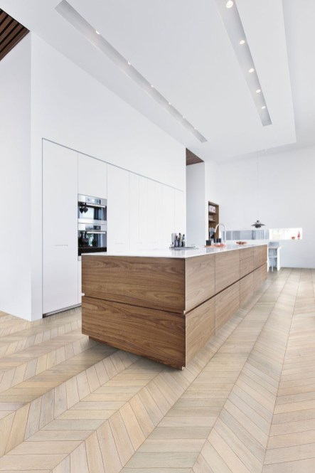 Modern herringbone pattern to give unique elements to your kitchen 46