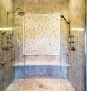 Stunning herringbone patterns for your bathroom wall 21