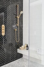 Stunning herringbone patterns for your bathroom wall 24