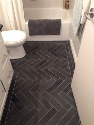 Stunning herringbone patterns for your bathroom wall 35