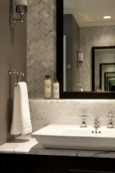 Stunning herringbone patterns for your bathroom wall 38