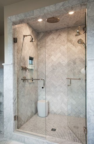 Stunning herringbone patterns for your bathroom wall 41