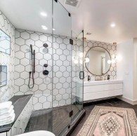 Unique honeycomb tile to give your bathroom a new look 16