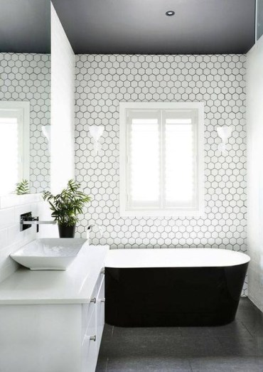 Unique honeycomb tile to give your bathroom a new look 19