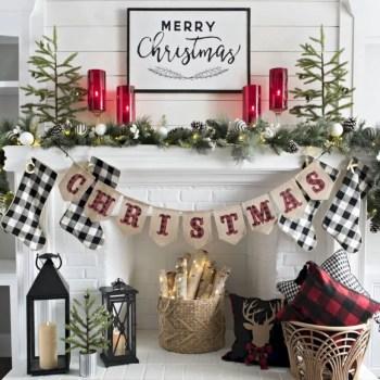 Adorable farmhouse christmas decor ideas 30