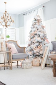 Awesome silver and white christmas tree decorating ideas 09