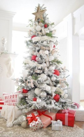 Awesome silver and white christmas tree decorating ideas 17