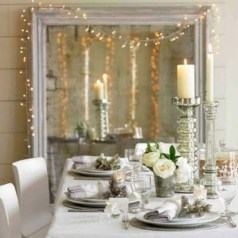 Beautiful winter table decoration ideas for a romantic dinner 20