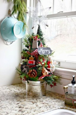 Genius ways to repurpose galvanized buckets this christmas 34
