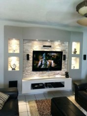 Modern tv stand design ideas for small living room 18