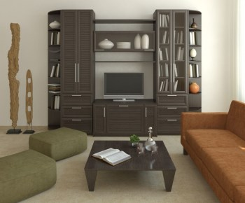 Modern tv stand design ideas for small living room 21