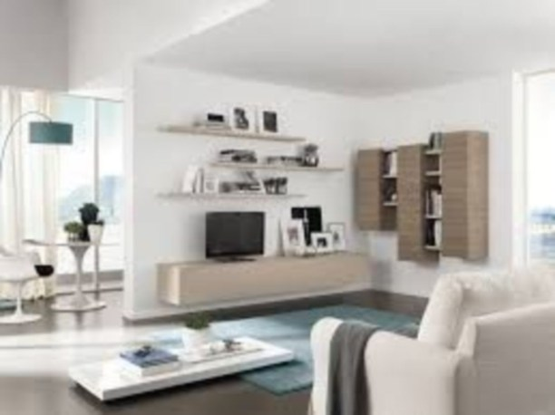 Modern tv stand design ideas for small living room 27