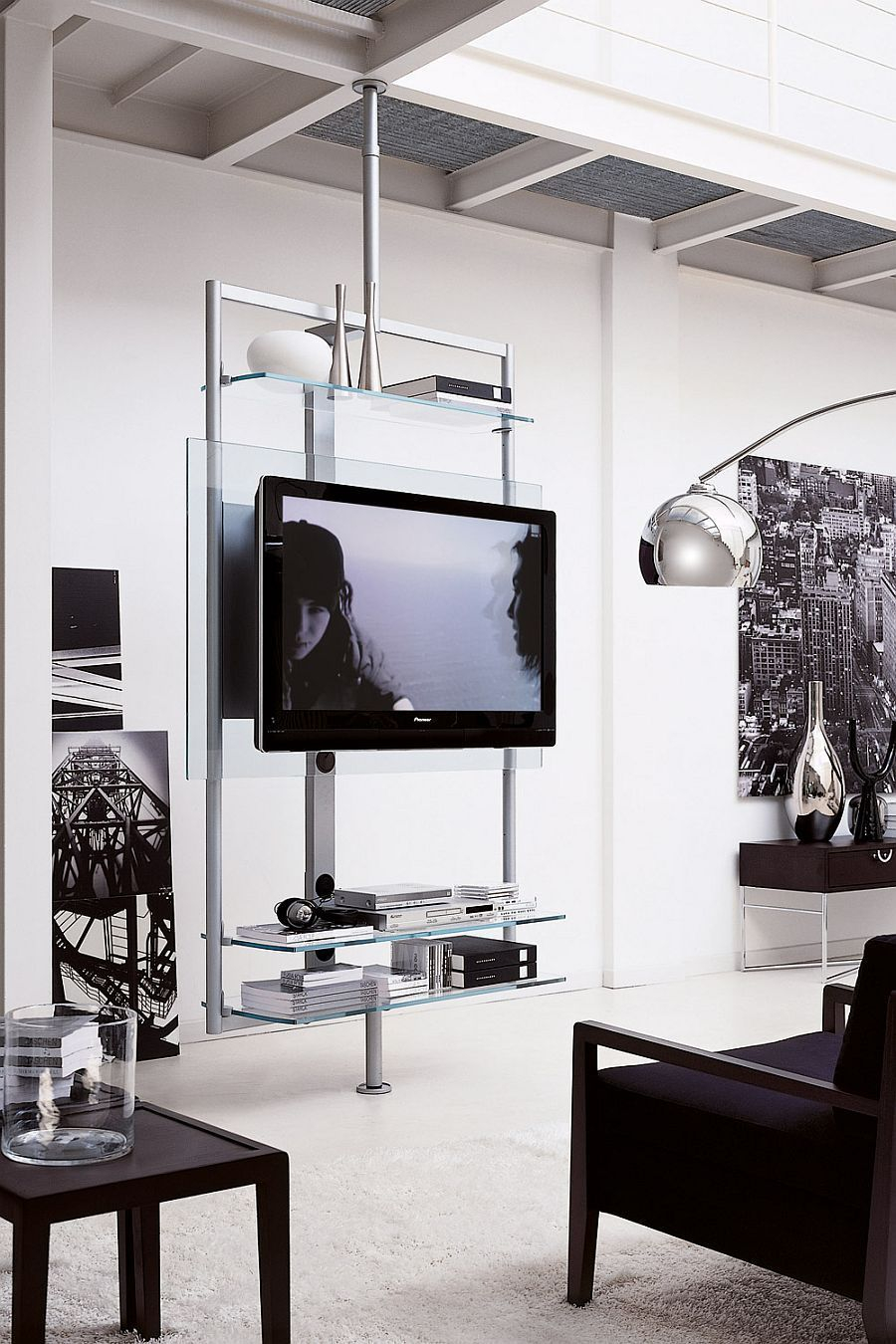 Modern tv stand design ideas for small living room 29