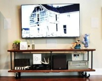 Modern tv stand design ideas for small living room 37
