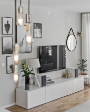 Modern tv stand design ideas for small living room 53
