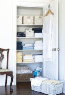 Ways to organizing your chaotic linen closet 04