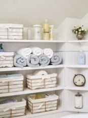 Ways to organizing your chaotic linen closet 21