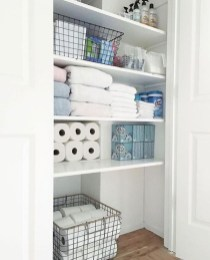 Ways to organizing your chaotic linen closet 31