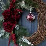 Winter christmas wreath to compliment your door 26