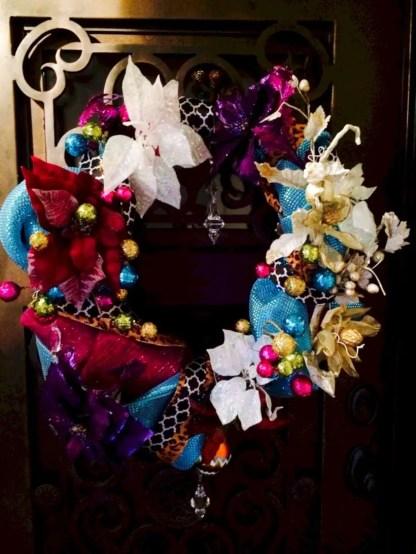 Winter christmas wreath to compliment your door 41