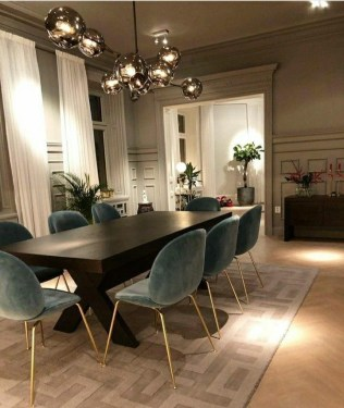 Amazing contemporary dining room decorating ideas 28